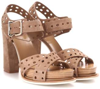 Tod's Suede plateau sandals