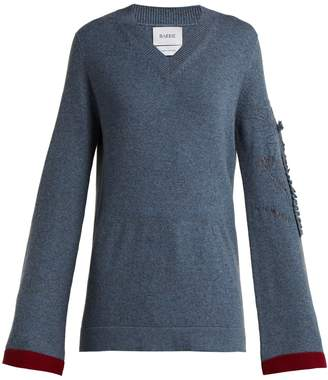 BARRIE Bright Side V-neck cashmere sweater