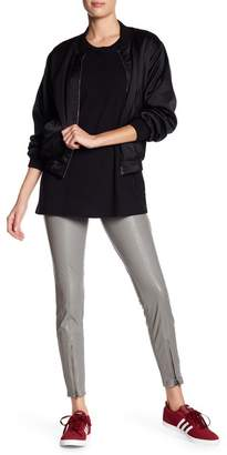 Hue Leatherette Zip Hem Faux Leather Leggings