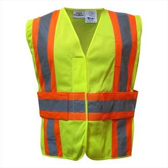 Utility Pro Wear UHV312-L and XL-Y Adjustable High Visibility Vest CL2 - Large and XL, Lime