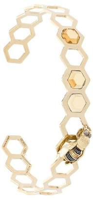 Delfina Delettrez geometric bee bracelet