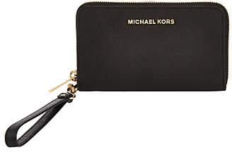 Michael Kors MICHAEL Jet Set Leather Travel iPhone 6 Case Purse