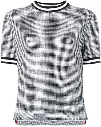 Thom Browne Textured Tweed Cuff Tee