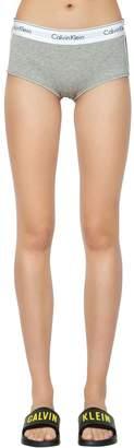 Calvin Klein Underwear Unlined Cotton Blend Jersey Boyshorts