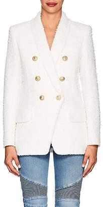 Balmain Women's Tweed Double-Breasted Blazer