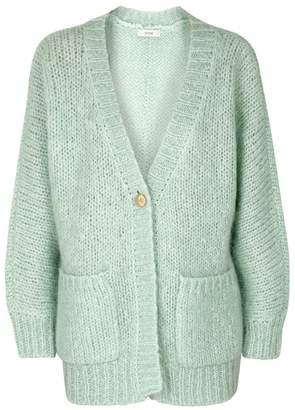 Gestuz Behar Chunky-knit Mohair-blend Cardigan