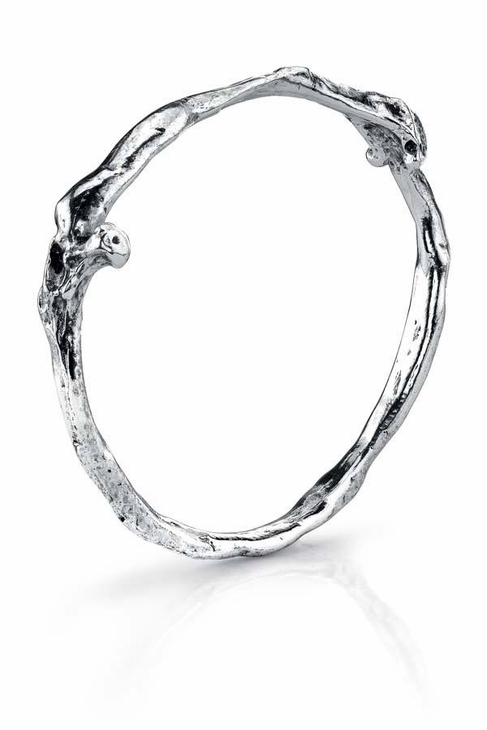 Esque Low Luv by Erin Wasson Bone Stack Bracelet in Silver