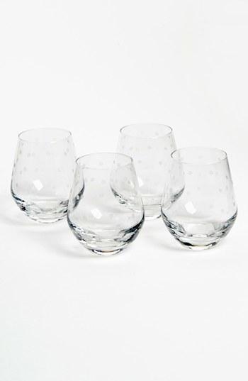 Kate Spade 'larabee Dot' Stemless White Wine Glasses (Set Of 4)