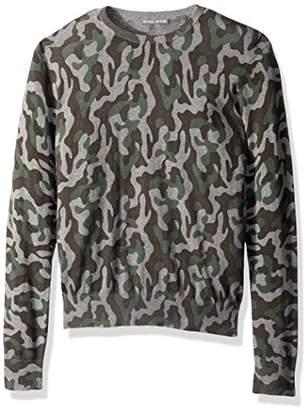 Michael Bastian Men's Printed Camo Crewneck Sweater