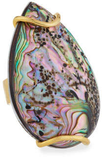 Devon Leigh Abalone Teardrop Ring
