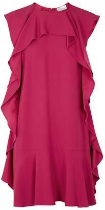 RED Valentino Fuchsia Ruffle-trimmed Mini Dress