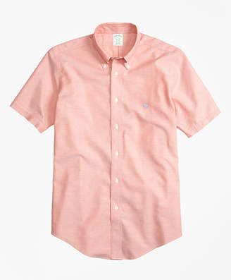 Brooks Brothers Non-Iron BrooksCool Milano Fit Short-Sleeve Sport Shirt