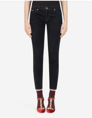Dolce & Gabbana Five-Pocket Pretty-Fit Velvet Pants