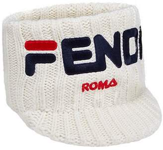 Fendi FendiMania logo knitted headband