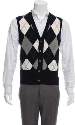 Black Fleece Cashmere Sweater Vest