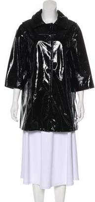 Vince Patent Leather Short Coat