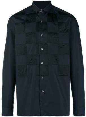 Lanvin panelled checked shirt