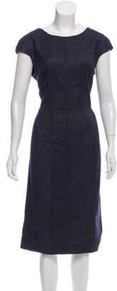 Lela Rose Wool Patterned Dress