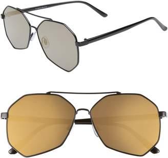 BP 60mm Geo Aviator Sunglasses