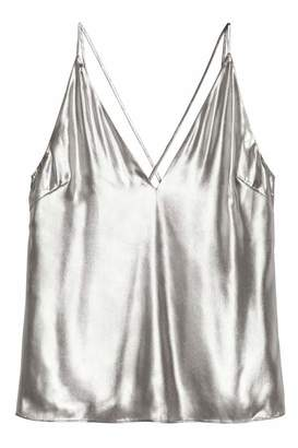 H&M Shimmering Metallic Top
