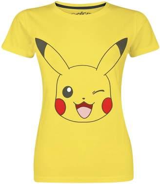 Pokemon T Shirt Winking Pikachu new Official Womens Skinny Fit