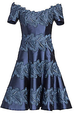 Morley Helen Women's Lace-Accent Fit-&-Flare Cocktail Dress
