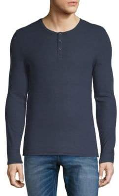 ATM Anthony Thomas Melillo Long Sleeve Henley T-Shirt