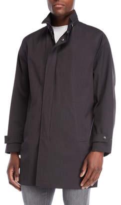 Michael Kors Charcoal Packable Hood Rain Coat