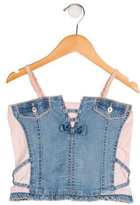 Dolce & Gabbana Girls' Denim Top