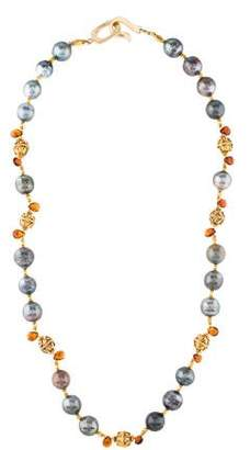 Pearl & Citrine Necklace