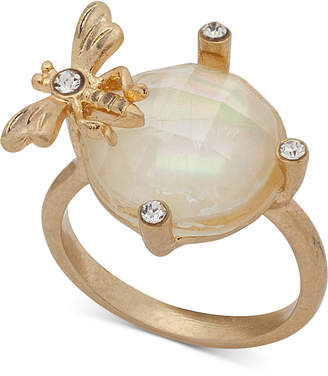 lonna & lilly Gold-Tone Pave & Stone Bee Ring, Created for Macy's