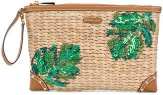MICHAEL Michael Kors foliage embroidered clutch