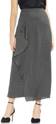 Vince Camuto Asymmetrical Ruffle Trinket Maxi Skirt