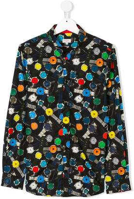 Paul Smith TEEN watch-print shirt