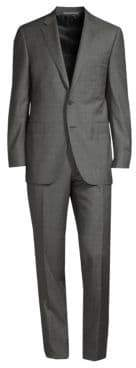 Canali Modern Grid Print Wool Suit