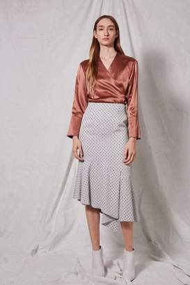Boutique **spot frill skirt