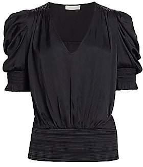Ramy Brook Women's Flora Puff-Sleeve Blouson Top