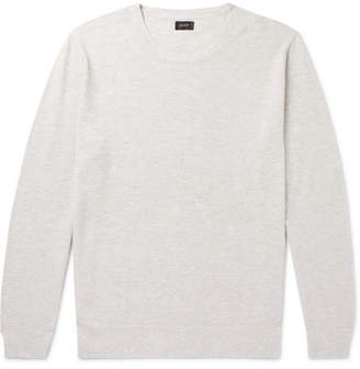 J.Crew Cotton and Cashmere-Blend Pique Sweater - Cream