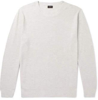 J.Crew Cotton and Cashmere-Blend Pique Sweater - Cream