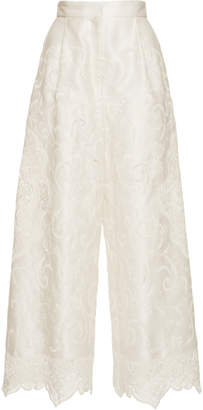 Dolce & Gabbana Flared Lace Detailed Trousers