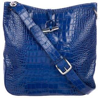 Longchamp Embossed Leather Crossbody