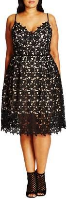 City Chic So Fancy Lace Dress