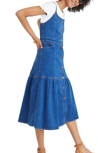Bayview Tiered Denim Midi Dress