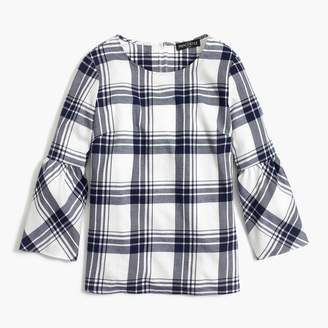 J.Crew Factory Flannel bell-sleeve top