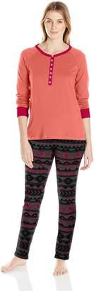 Bottoms Out Women's Printed Sweater Fleece Pajama Set
