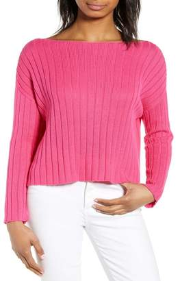 BP Ribbed Boatneck Sweater
