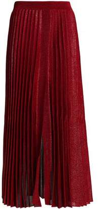 Missoni Pleated Metallic Knitted Midi Skirt
