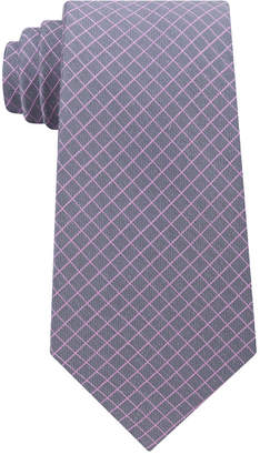 Michael Kors Men's Extra Long Mini Grid Silk Tie
