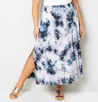 Avenue Sequin Tie Dye Maxi Skirt