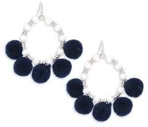 Saks Fifth Avenue Pom Pom Hoop Earrings